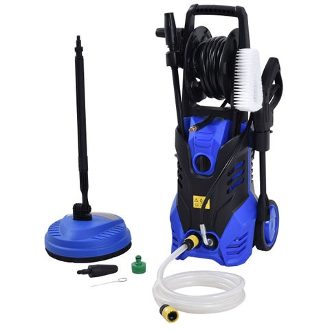 Costway 3000PSI Electric High Pressure Washer Machine 2 GPM 2000W w/ Deck Patio Cleaner
