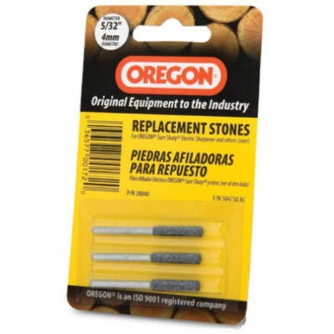 "Oregon 28840 Replacement Sharpening Stones, 5/32"", 3-Pack"