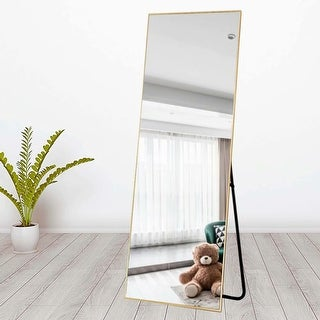 Link to Carson Carrington Paaskynen Aluminum Alloy Full Length Floor Mirror Similar Items in Mirrors