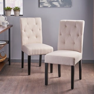 Link to Gentry Tufted Fabric Dining Chair (Set of 2) by Christopher Knight Home Similar Items in Dining Room & Bar Furniture