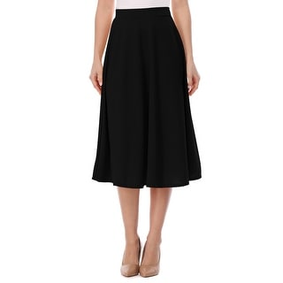 Link to Women's A-Line Casual Flared High Waist Solid Midi Skirt Similar Items in Skirts