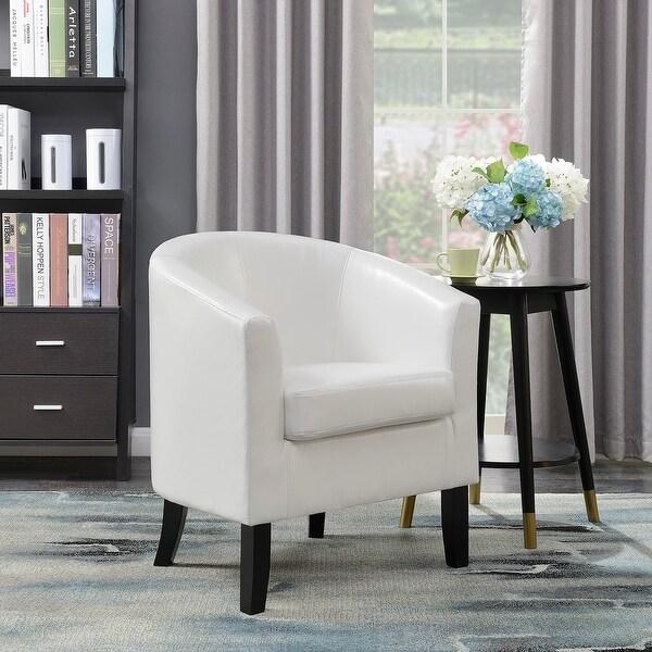 Shop Belleze Club Chair Tub Faux Leather Armchair Seat