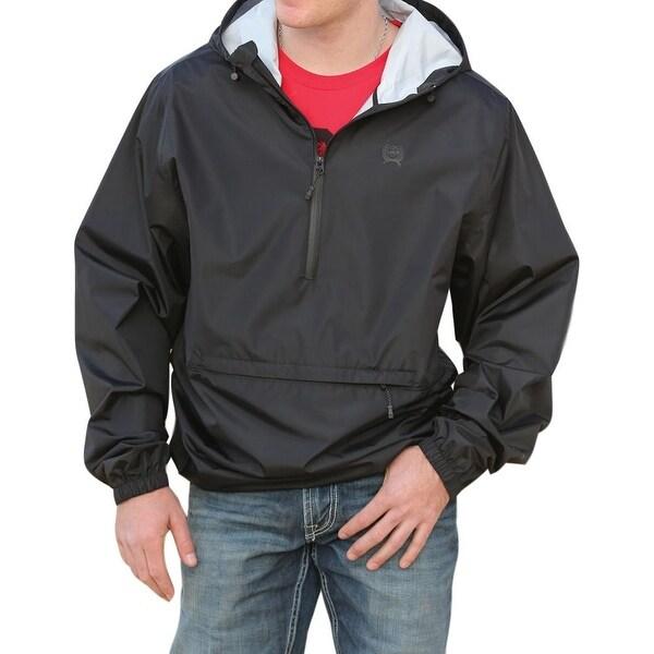 Cinch Western Jacket Mens Windbreaker 1/4 Zip Pocket Black