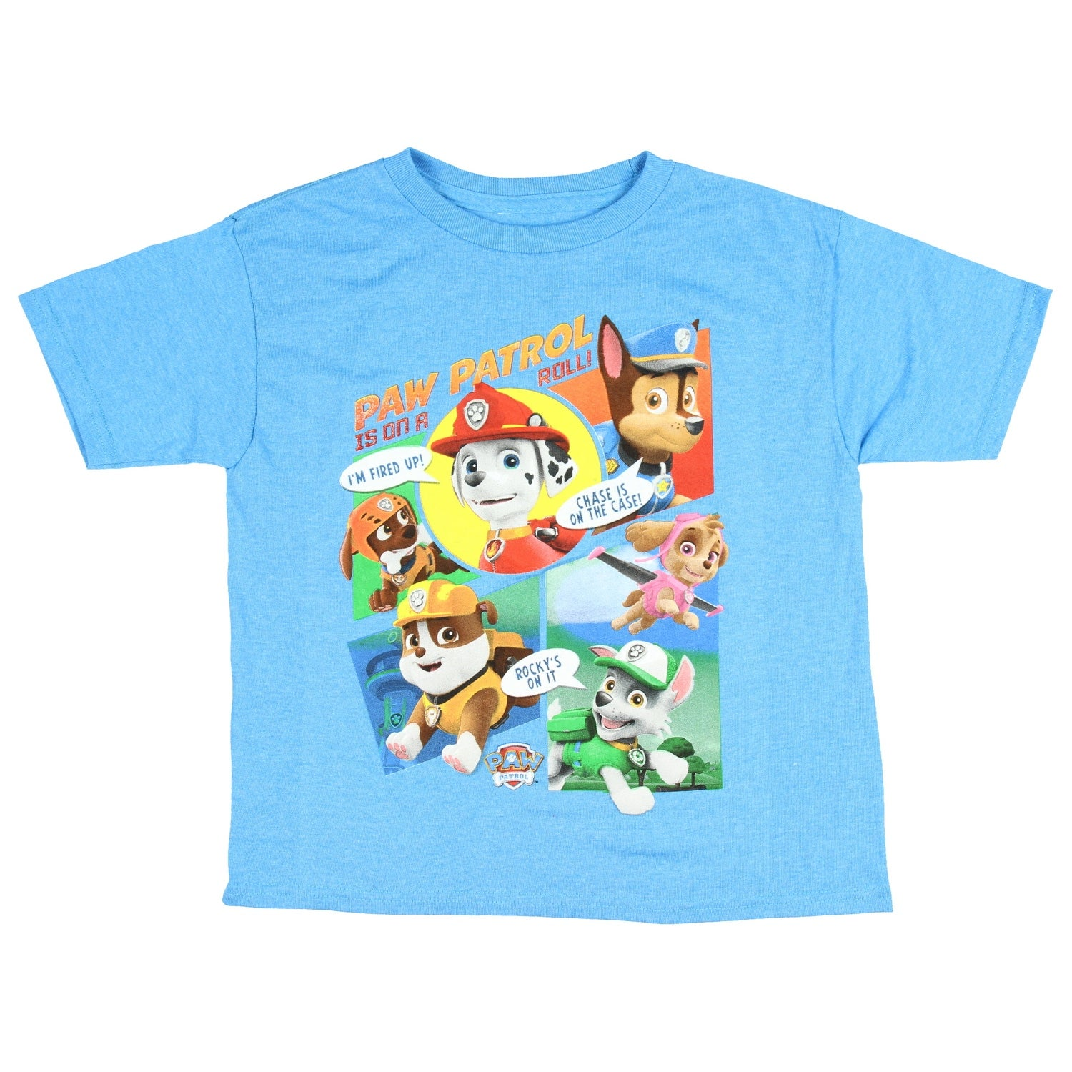 Graphic T-shirt Kids Character Paw Patrol Blue