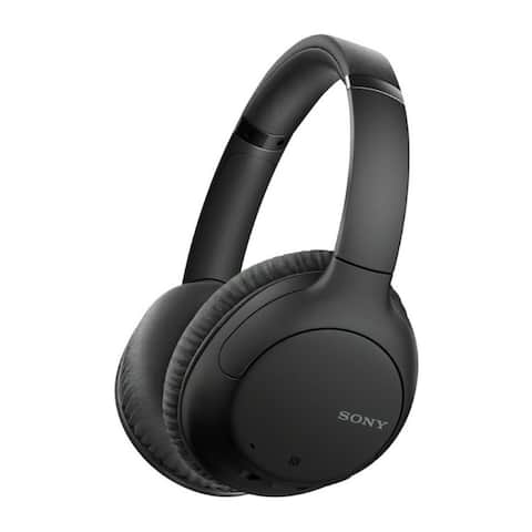 Sony WHCH710N Wireless Bluetooth Over-the-Ear Headphones (Black)