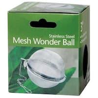"HIC 3009 Jumbo Mesh Tea Ball, Stainless Steel, 3"""
