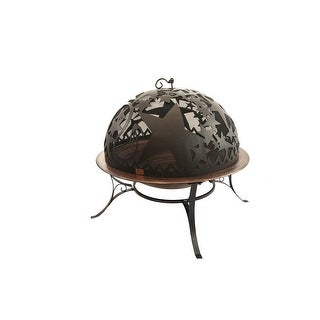 """34"""" Handcrafted Orion Steel Fire Dome with Fire Pit"""