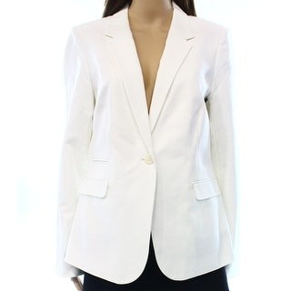 Vince Camuto NEW White Ivory Women's Size 10 One-Button Blazer