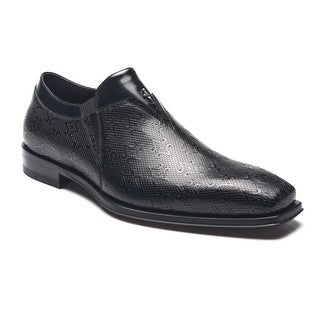 Cesare Paciotti Men Leather Magic Old Loafers Black