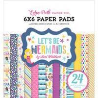 "Let's Be Mermaids - Echo Park Double-Sided Paper Pad 6""X6"" 24/Pkg"