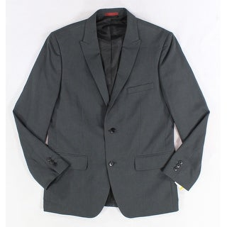 Alfani NEW Gray Mens Size Large L Slim Fit Two Button Sport Coat Blazer