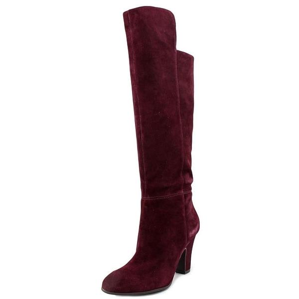 Nine West Quikstep Women Round Toe Suede Knee High Boot