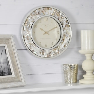 Link to FirsTime & Co.® Pearl Mosaic Wall Clock, American Crafted, White, Plastic, 10.25 x 2 x 10.25 in - 10.25 x 2 x 10.25 in Similar Items in Decorative Accessories