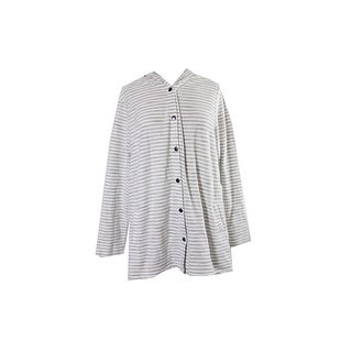 Style & Co. Plus Size Beige Striped Hooded Sweater X