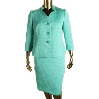 Le Suit Womens The Hamptons Woven Textured Skirt Suit