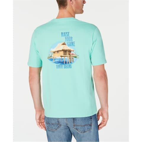 Tommy Bahama Mens Raise Your Game Graphic T-Shirt, green, XXX-Large