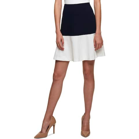 Tommy Hilfiger Womens Mini Skirt Colorblock Above Knee
