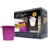 Perfect Pod K16129 EZ-Cup 2.0 Refillable Coffee Capsules, Purple