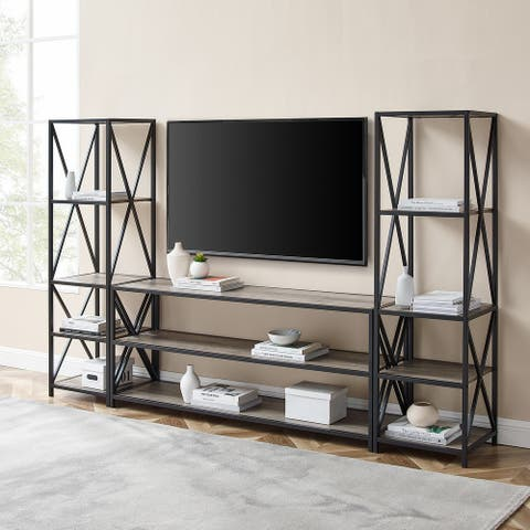 Carbon Loft Hattie 3-piece X-Frame Entertainment Wall