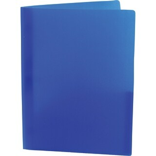 Storex Eco Plastic Recycled Report Cover with Prongs, 30 Sheet, 8-1/2 X 11 in Letter, Blue