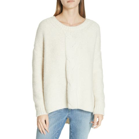 Eileen Fisher Women's White Ivory Size Large L Alpaca Pullover Sweater
