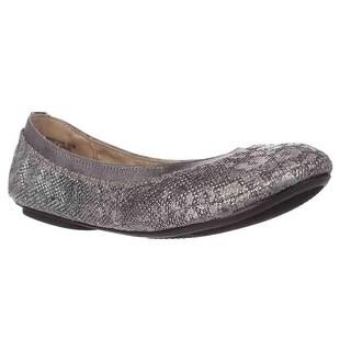 Bandolino Edition Ballet Flats, Pewter Leopard Glamour - 5.5 us