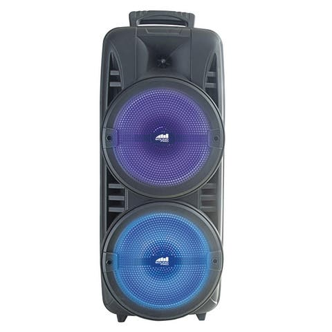 "Portable Dual 8"" Wireless Party Speakers with Disco Lights"
