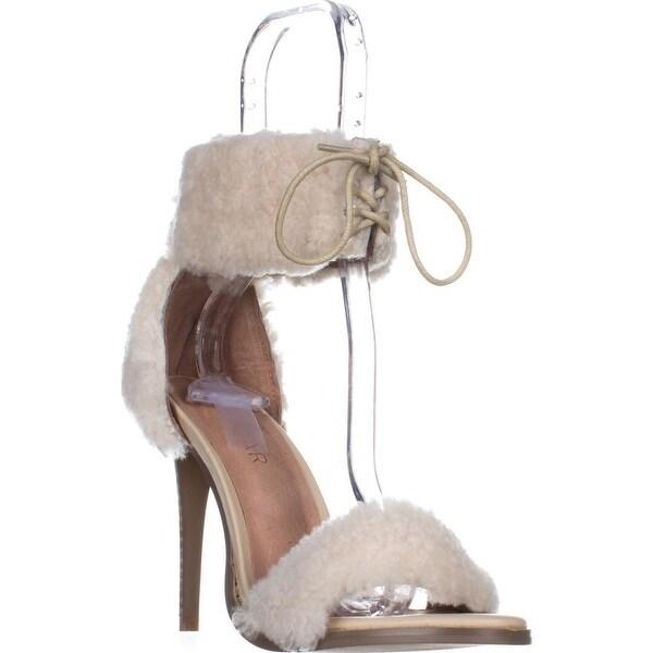 Jaggar Footwear Transcendence Lace Up Sheep Skin Heels, Natural - 5.5 us / 37 eu