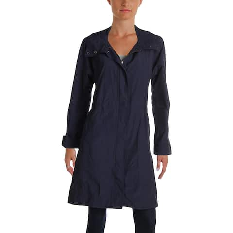 Eileen Fisher Womens Trench Jacket Fall Rainwear