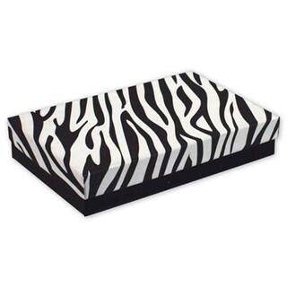 5.44 x 3.5 x 1 in. Zebra Jewelry Boxes, Black & White
