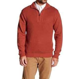 Weatherproof NEW Orange Spice Mens Size Medium M Quarter Zip Sweater
