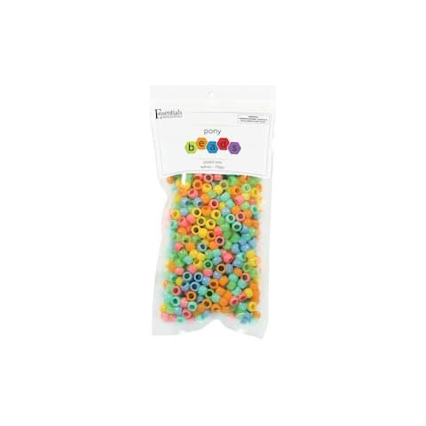EBL Pony Bead 6x9mm Pastel Mix 750pc - Medium