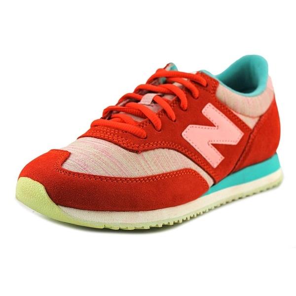 New Balance CW620 Women Round Toe Suede Orange Walking Shoe