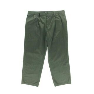 Dockers Mens Double Pleat Classic Fit Khaki Pants