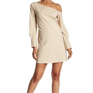 Theory Women's One-Shoulder Solid Sheath Dress