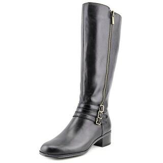Bandolino Carsononi Wide Calf Women Round Toe Leather Knee High Boot