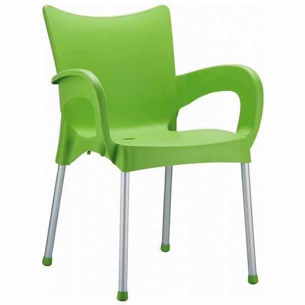 Romeo Stacking Dining Arm Chair [Set of 4] Finish: Apple Green