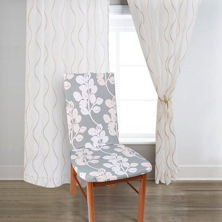 Unique Bargains Flower Pattern Stretch Flower 6 Dining Chair Cover