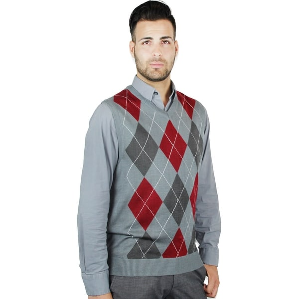 590615c78ad Shop Men's Argyle Sweater Vest (SV-255) - Free Shipping On Orders ...