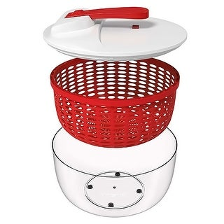 Link to Your Choice Kitchen 3 Piece Salad Spinner with Ergonomic Crank.  Red, 6.3 qt Similar Items in Cooking Essentials