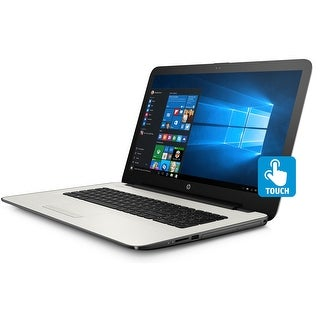"""HP 17-y032cy Laptop, AMD A12, 12GB, 2TB HDD, 17.3"""" HD+ Touch WLED, MS Office 365 - White"""