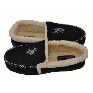 U.S Polo Assn Mens Premium Black Small Size 7-8 Slippers