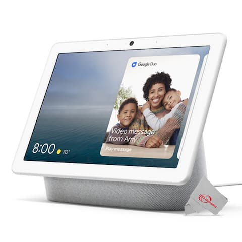 "Google Nest Hub Max 10"" Touchscreen (Chalk) Built-In Google Assistance, Wi-Fi & Bluetooth Connectivity - Chalk"