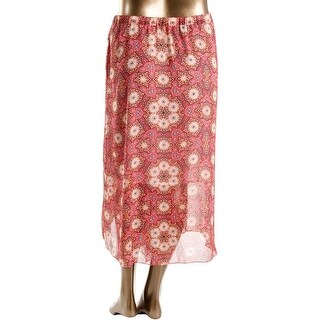 Vince Camuto Womens Maxi Skirt Mid-Calf Printed