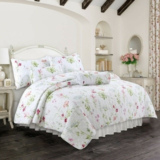 Link to Cozy Line Carlotta Floral 3-piece Quilt Set Similar Items in Quilts & Coverlets