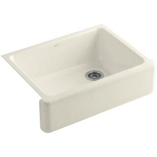 "Kohler K-6487 Whitehaven 30"" Self-Trimming Single Basin Apron-Front Under-Mount Enameled Cast-Iron Kitchen Sink"