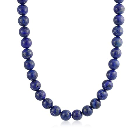 Genuine Gemstone Bead Strand Necklace Silver Plated Clasp 18 16 Inch