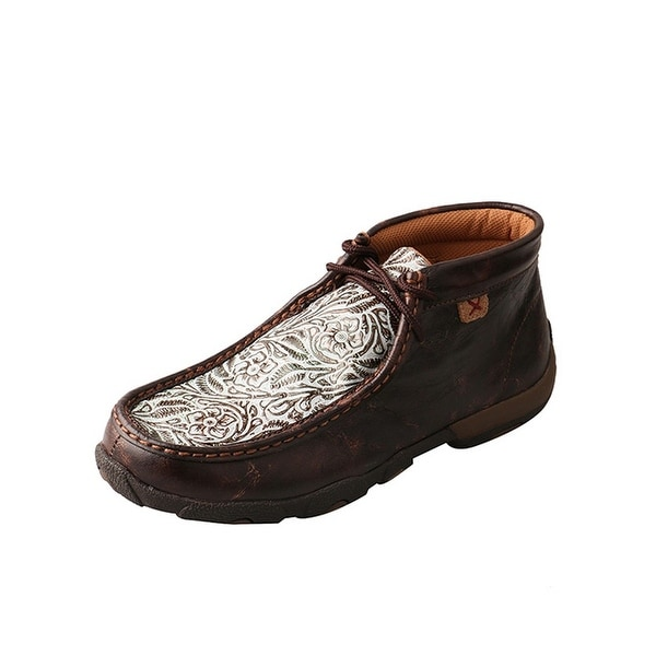 Twisted X Casual Shoes Womens Floral Red Buckle Brown Turq