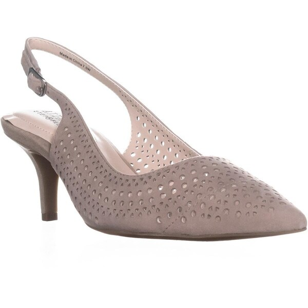 A35 Brezee Perforated Pointed Toe Heels, Flint - 7.5 w us