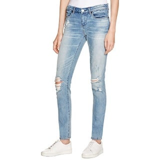Blank NYC Womens Classique Skinny Jeans Destroyed